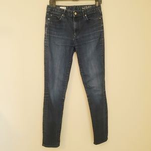 GAP High Rise Skinny Blue Jeans Size 28
